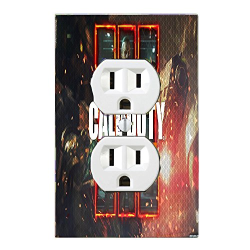 Call of Duty Black Ops III 3 Light Switch Plate Cover And/or Outlet Gamer Room (1x Outlet Design 2) by Got You Covered