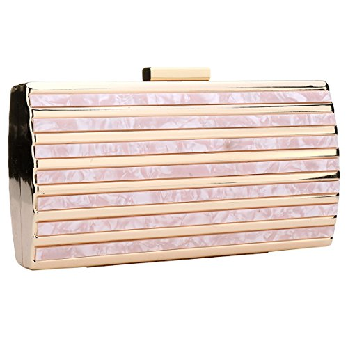 Women Purse Bag Box Turquoise for Fashionable Clutches Womens Acrylic Pink Clutch Evening Luxury Evening Handbag fWxUqAttFR