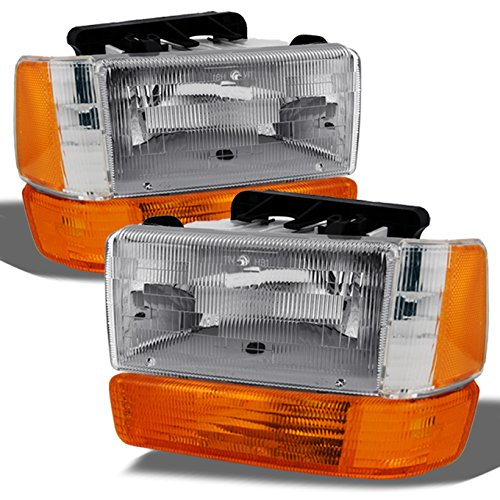 Dodge Dakota Replacement Bumper - For Dodge Dakota OE Replacement Chrome Bezel Headlights Bumper Head Lamps Driver/Passenger Combo