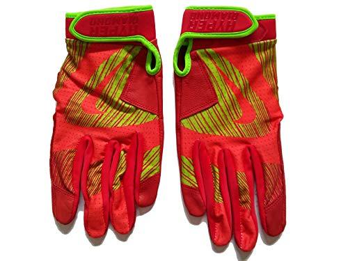 Unisex GB0429 Nike Hyperdiamond Edge Baseball Batting Gloves Size Adult Medium Orange/Neon