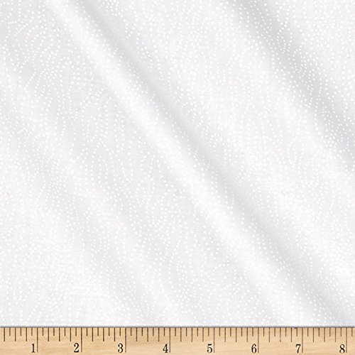 Santee Print Works Tone on Tone Dotted Lines White/White Fabric By The (Tonal Prints Cotton Quilt Fabric)