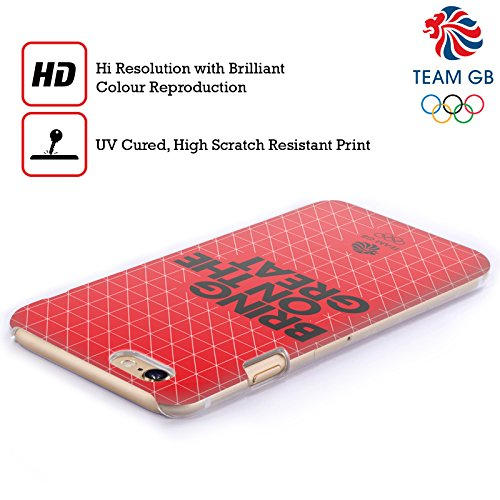 Official Team GB British Olympic Association Grid 2 Bring On The Great Hard Back Case for Apple iPhone 4 / 4S