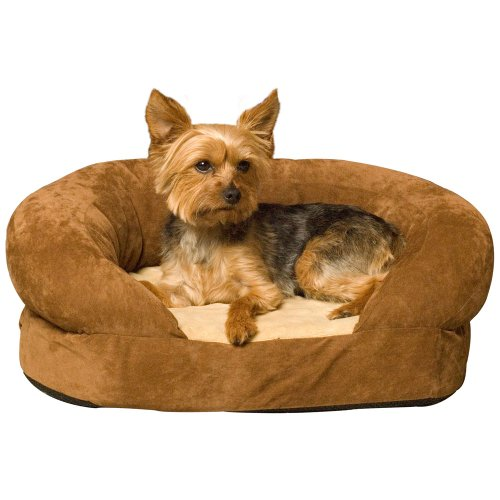 (K&H Pet Products Ortho Bolster Sleeper Pet Bed Large Brown 40