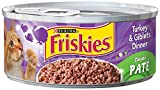 Purina Friskies Pate Turkey & Giblets Dinner Cat Food - (24) 5.5 oz. Pull-top Can