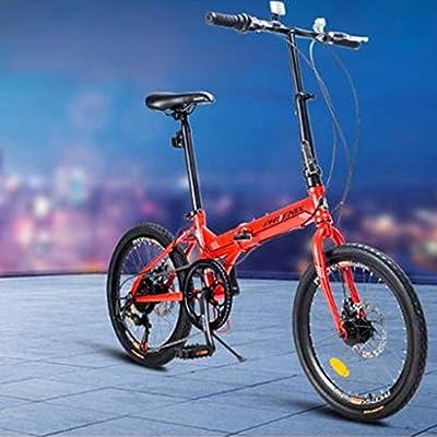 Paseo Bicicleta Bicicleta De La Bicicleta Plegable 20 Pulgadas 7 Velocidad Estudiantes Masculinos Y Femeninos Adultos Bicicletas Ligera Bicicleta De Los Niños (Color : Red, Size : 150 * 60 * 111cm): Amazon.es: Hogar