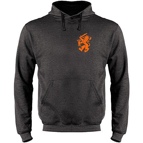 Dutch Soccer Retro National Team Halloween Costume Heather Charcoal Gray L Mens Fleece Hoodie Sweatshirt