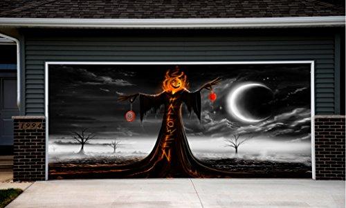 Halloween Decor for Garage Door Outdoor Decorations of House Pumpkin Billboard GD5 (Halloween Decorations Garage Door)