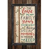 The Love in Our Family Grows Deep Tree Roots 36 x 25 Wood Framed Pallet Wall Art Sign Plaque