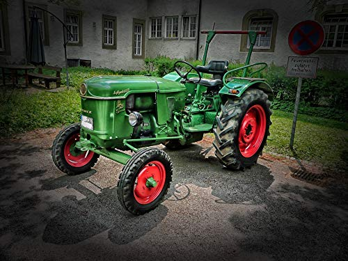 Home Comforts Canvas Print D-25 Rural Deutz Tractor Machinery Farm HDR Vivid Imagery Stretched Canvas 32 x 24