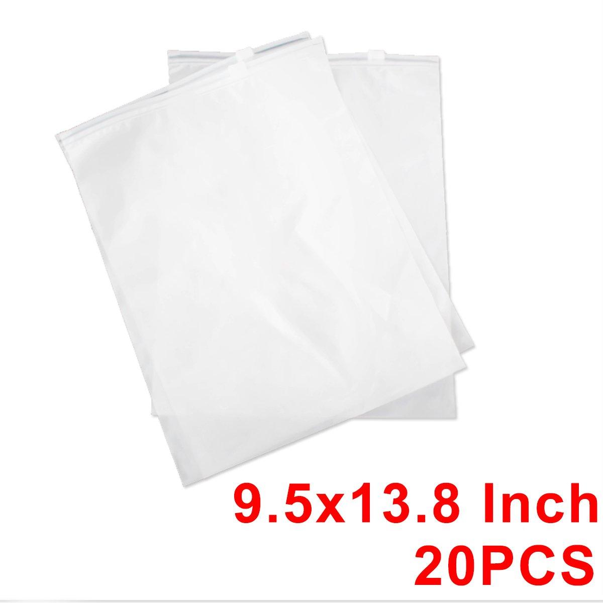 9.5x13.8 Inch 20PCS ziplock Scrub Bolsas Selladas Bolsas De Maquillaje De Viaje Transparente PVC Impermeable Bolsa De Almacenamiento De Embalaje para Ropa//Regalos//Empaquetado del Tel/éfono Celular