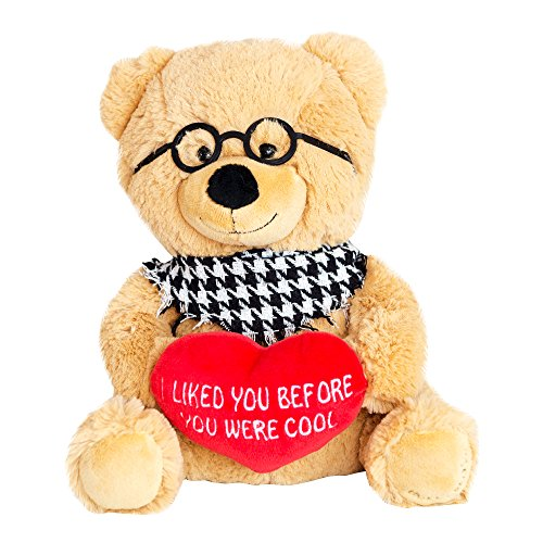 Hollabears Hipster Teddy Bear Plush - Funny and Cute Gift Idea for the Girlfriend, Boyfriend, or (Handcrafted Plush Teddy Bear)