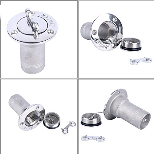 Deck Fill Key (Amarine-made Stainless Boat Water Tank Deck Fill port W/key (2Inch(50MM)))