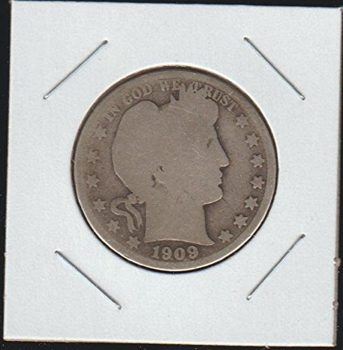 1909 Barber or Liberty Head (1892-1915) Half Dollar (1909 Barber Quarter)