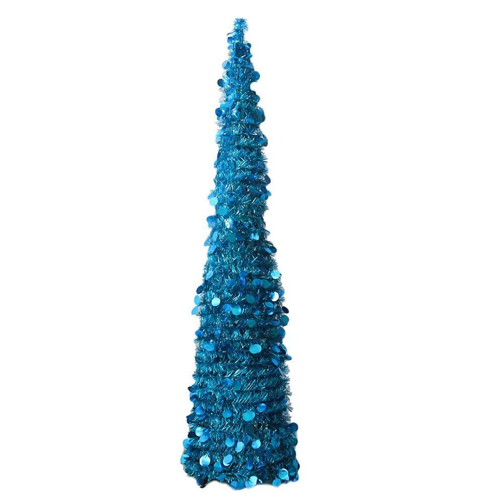 Oshide - Decorazione Pieghevole Per Albero Di Natale, Regolabile, Blu