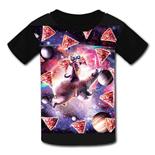 (jhbkjabs T-Shirt Printing Running Tshirt Children's Tee Shirt Black)