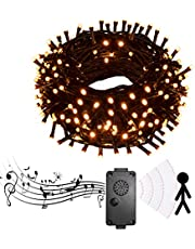 Halloween Decorations, Vanthylit 81.7Ft 200LT Halloween String Lights with Spooky Sounds Lighted Halloween Fairy Lights for Indoor and Outdoor Patio Lawn Garden (Orange)
