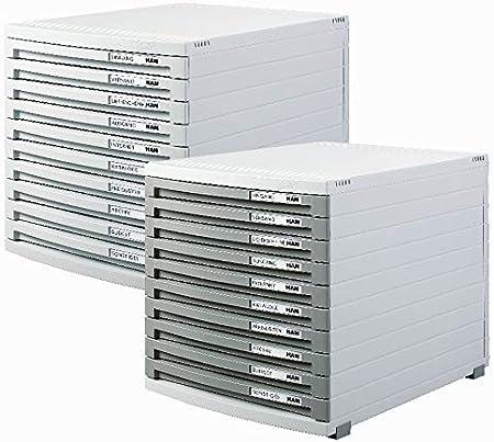 erweiterbares Organisationssystem//Mit 10 geschlossenen Schubladen HAN Schubladenbox CONTUR 1510-13 in Schwarz//Modernes