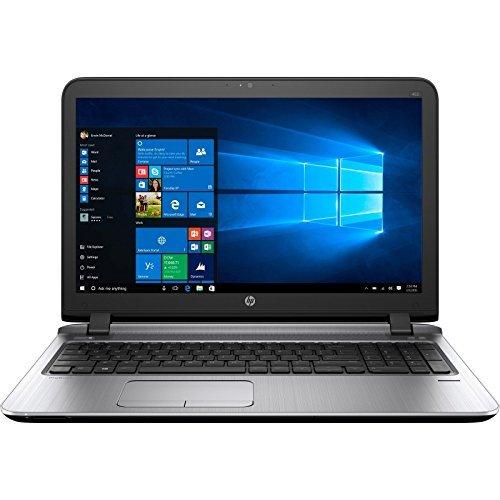 HP ProBook 15.6-Inch HD LED-Backlit Laptop, AMD A8 Quad-Core Processor 4GB RAM 500GB 7200RPM HDD DVD +/- RW AMD Radeon R5 Webcam WiFi HDMI Bluetooth Windows 7 / 10 Professional