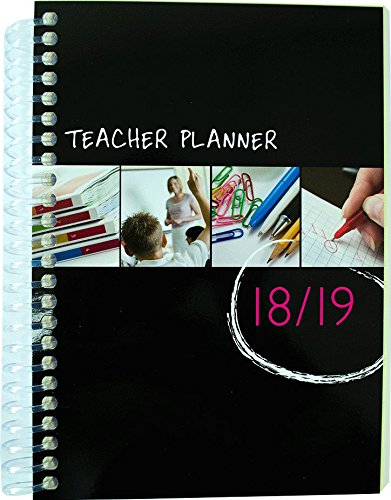 Planning à spirales pour professeur A5 Coil Bound 6 Period 2018-2019 The School Planner Company