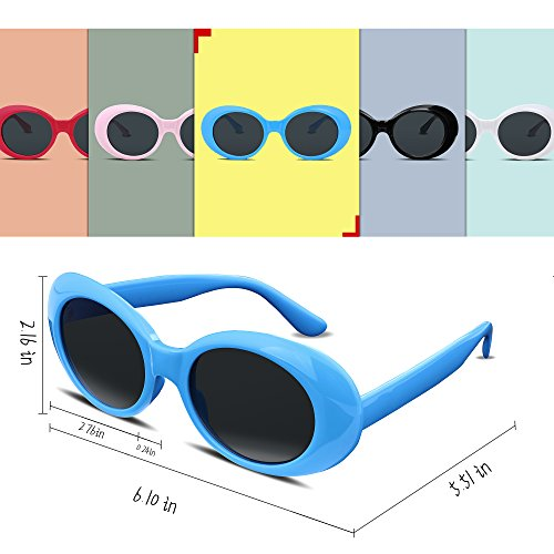 a47bf91206 FEISEDY Candy Retro Acetate Blue Frame Clout Goggles Kurt Cobain Sunglasses  B2253