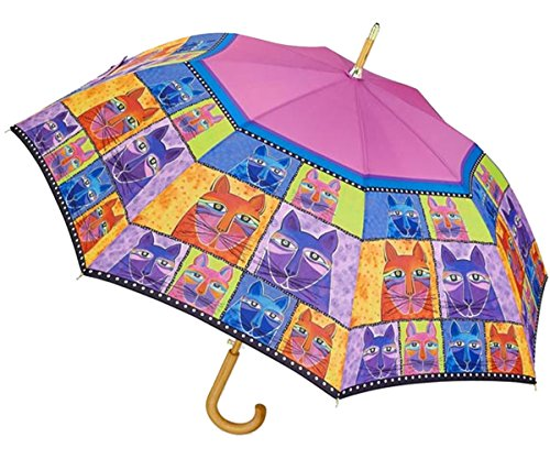 Laurel Burch Compact Umbrella Canopy Auto Open/Close (One Size, Feline Family)