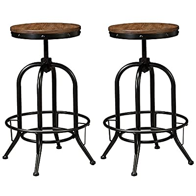 Signature Design by Ashley D542-230 Pinnadel Collection Pub Height Barstool, Light Brown, Pub Height