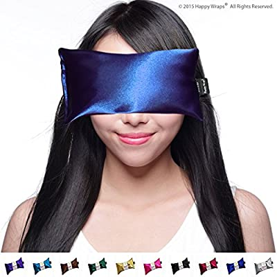 Hot Cold Lavender Eye Pillow and Free Eye Mask for Sleep, Yoga, Migraine Headaches, Stress Relief. By Happy Wraps