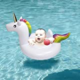 Inflatable Unicorn Swimming Pool Float - Safe Material Classic Swim Ring Kids Toddlers