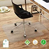 "FRUITEAM 30"" x 48"" Office Chair Mat for Hardwood Floor, Transparent Hard Floor Protector, Desk Chair Mat with Lip, Non-Studded Bottom, BPA and Phthalate Free"