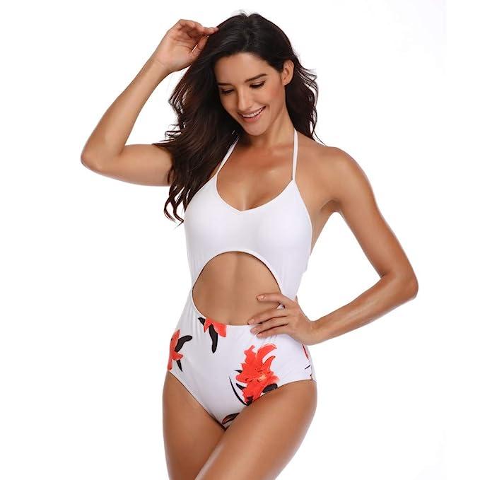 Internet_Mujer una Sola Pieza de Traje de baño de Vendaje Bohemia Bikini/brasileño niña Push