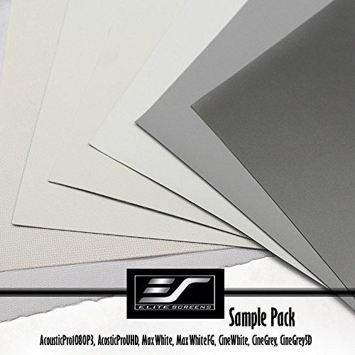 Elite Screens Projection Screen Material Sample Pack Includes 7 Samples. SamplePack7