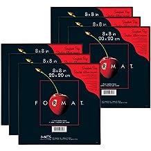 MCS 8x8 Inch Format Frame 6-Pack, Black (65703)