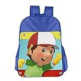 Kids Handy Manny School Backpack Cartoon Children School Bags RoyalBlue