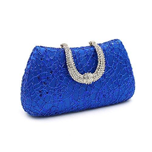 De De De Bolsa De Lentejuelas Noche Conejo Azul Imitación Novia De Embrague De Mano De Bolsa Bolsa Hermosas La Oro Diamantes Encaje Mujeres Tarde De De Lujo color Boda 5qU6xxSvwX