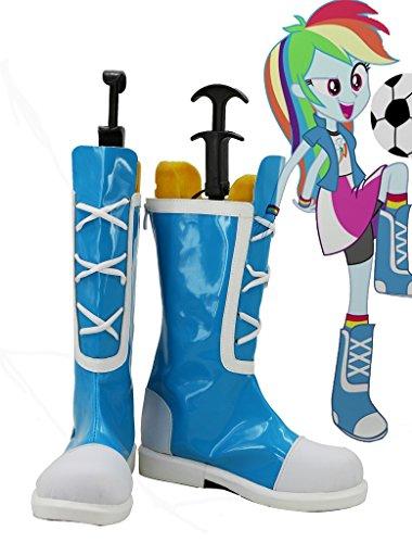 My Little Pony Equestria Flickor Regnbåge Rocks Rainbow Dash Cosplay Kängor Skräddarsydda Blå
