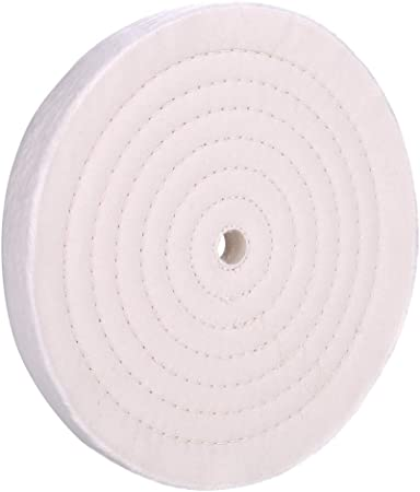 """6 Inch Buffing Polishing Wheel For Bench Grinder With 1//2/"""" Arbor Hole White 40"""