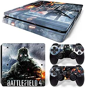 For Sony Playstation 4 Slim colorskin personality Console Decal Skin Stickers with 2 Pcs Stickers For PS4 Slim Controller