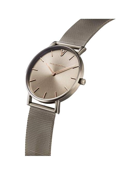 Paul Valentine - Reloj de Pulsera para Mujer (36 mm), Color Caqui: Amazon.es: Relojes