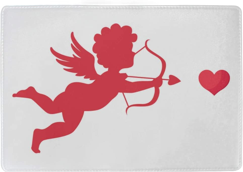Cute Cupid With Bow And Arrow Blocking Print Passport Holder Cover Case Travel Luggage Passport Wallet Card Holder Made With Leather For Men Women Kids Family