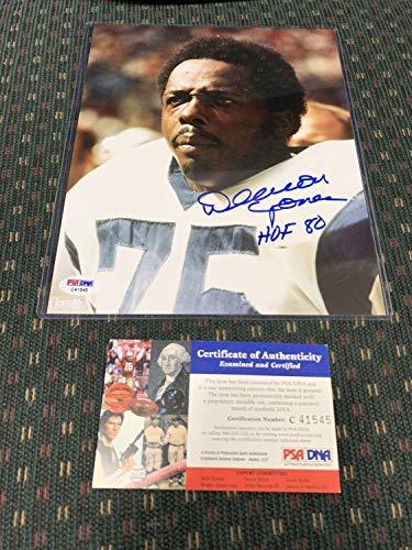 - Deacon Jones Los Angeles Rams Autographed Signed Autograph 8x10 Photo PSA/DNA Hof Head Slap