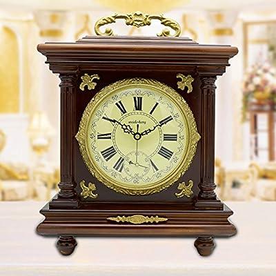 relojes antiguos vintage reloj de latón europeo reloj de salón creativo Reloj Reloj decorativo de manera silenciosa-A