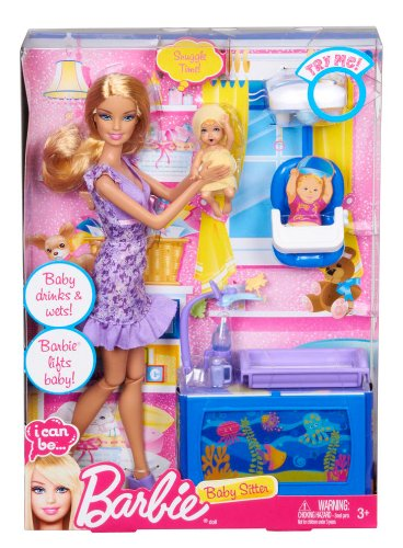Amazon.com: Barbie I Can Be Baby Sitter Playset: Toys & Games