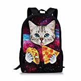 FOR U DESIGNS Campus Students School Bags Galaxy Kitten Cat Shoulder Book Backpack