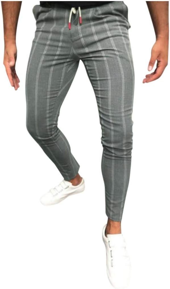 VPASS Pantalones para Hombre, Pantalones Moda Pop Casuales Raya ...
