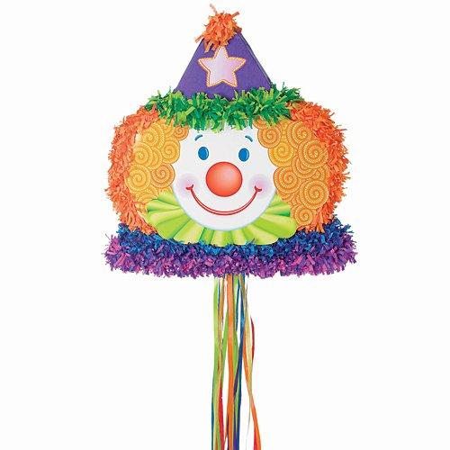 Clown Pull Toy - Clown Head Pinata
