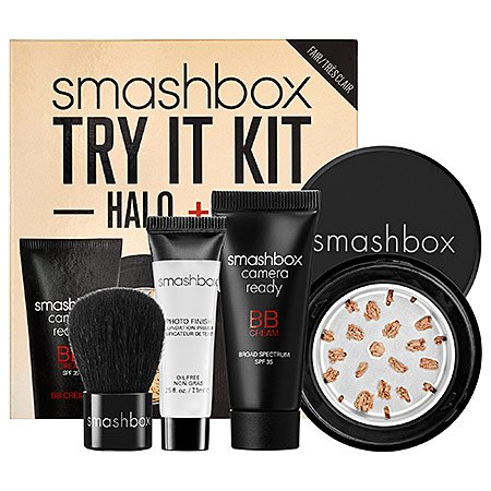 Smashbox Try It Kit: Halo + BB Light/Medium (Finish Perfect Photo Kit)