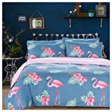 Arachnes Needle King Duvet Cover Set, 3 Piece (1 Duvet Cover and 2 Pillowcases) Comforter Cover Animal Botanical Print Bedding Set Living Room Decor Blue