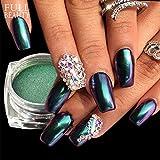 POYING Full Beauty Chameleon Mirror Magic Powder Nail Glitter Holographic Gradient Dazzling Pigment Nail Dust Decoration Box CHB821/801