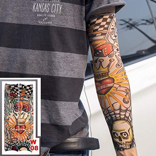 tzxdbh Falso Tatuaje Temporal Mangas del Brazo Unisex Falso ...