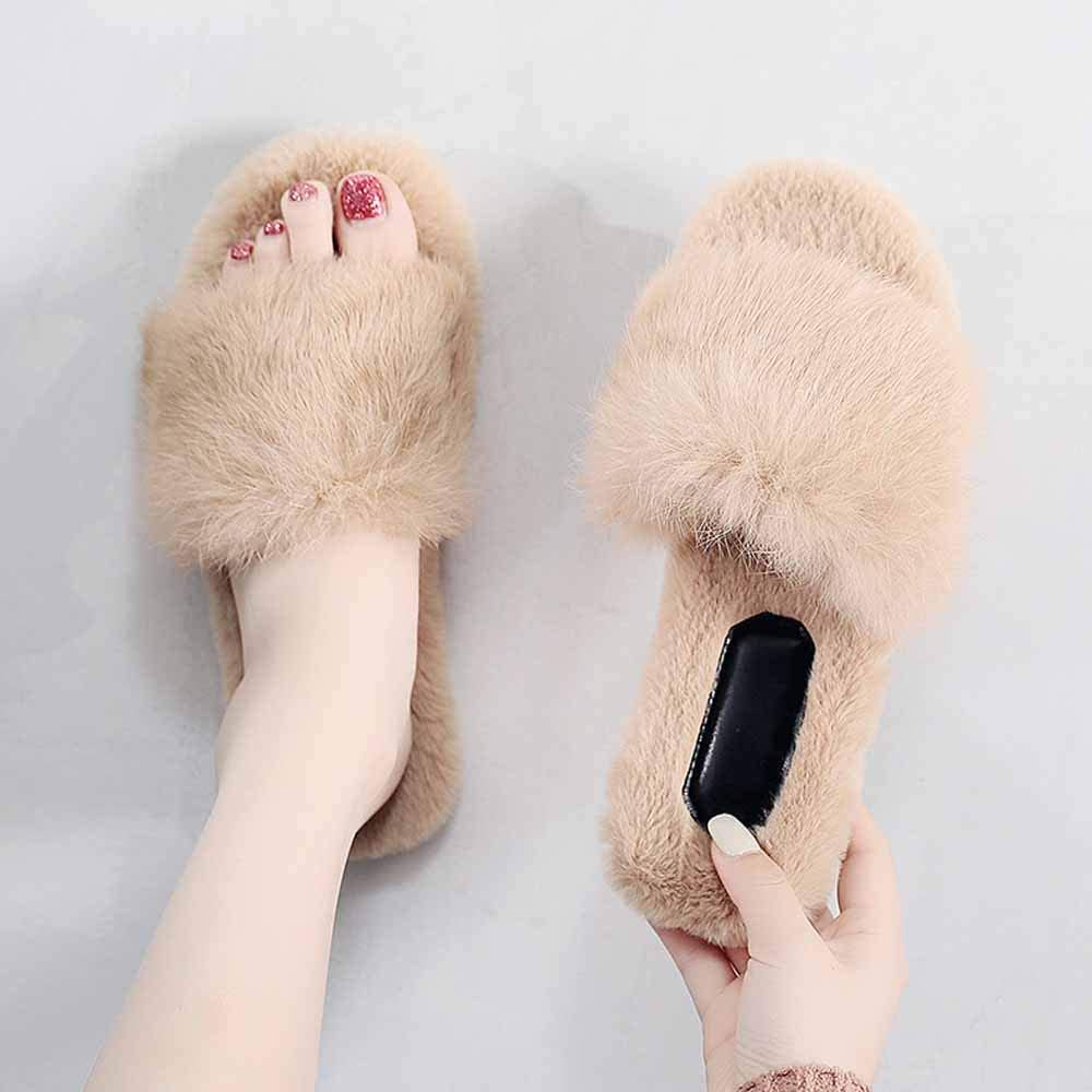 furry womens slippers